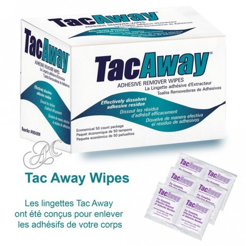 Tac Away Wipes remove