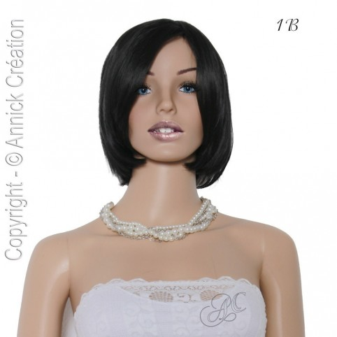 Perruque semi-naturelle courte, une coiffure séduisante