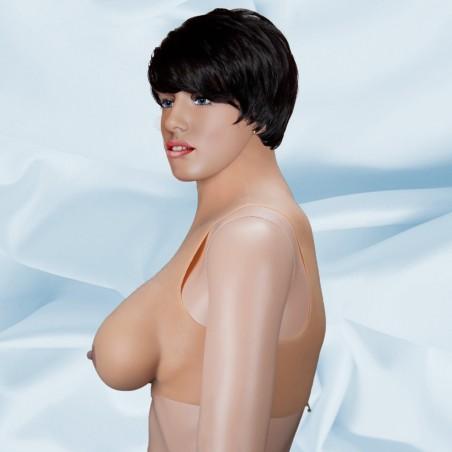 Buste faux seins, col haut, fermeture à glissière dans le dos