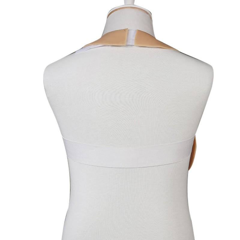 Buste plastron faux seins, Silk padding