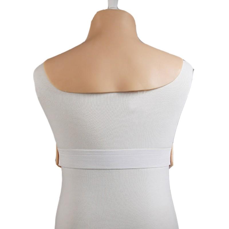 Buste plastron faux seins, col haut, Silk padding