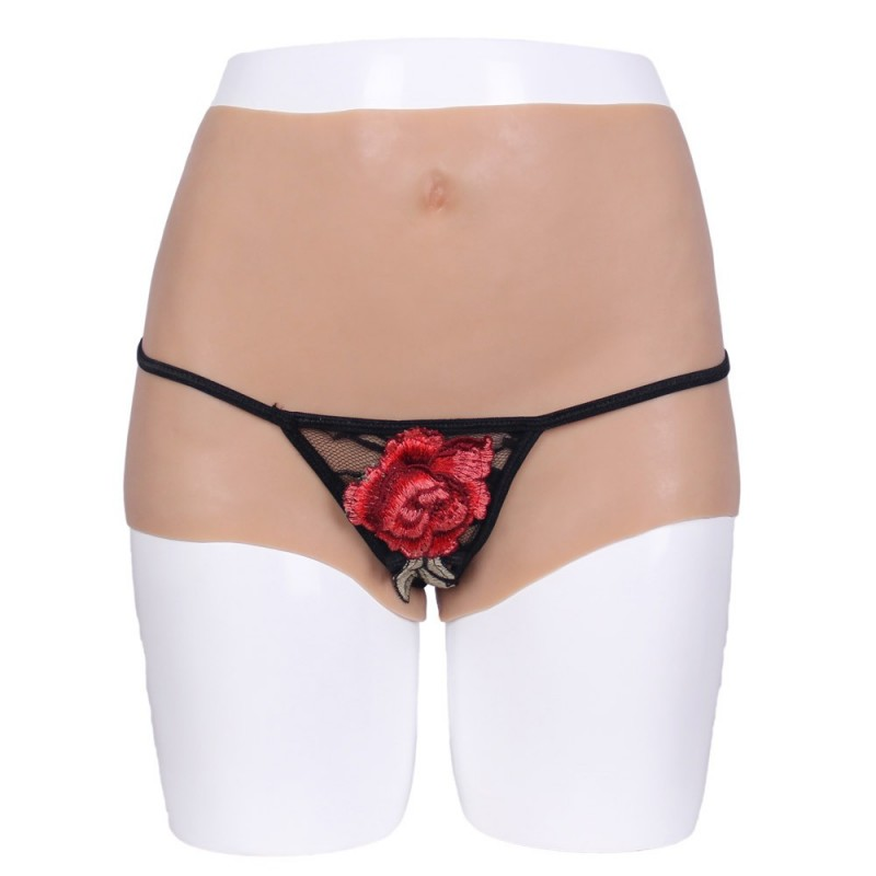 Culotte faux vagin transgenre en silicone