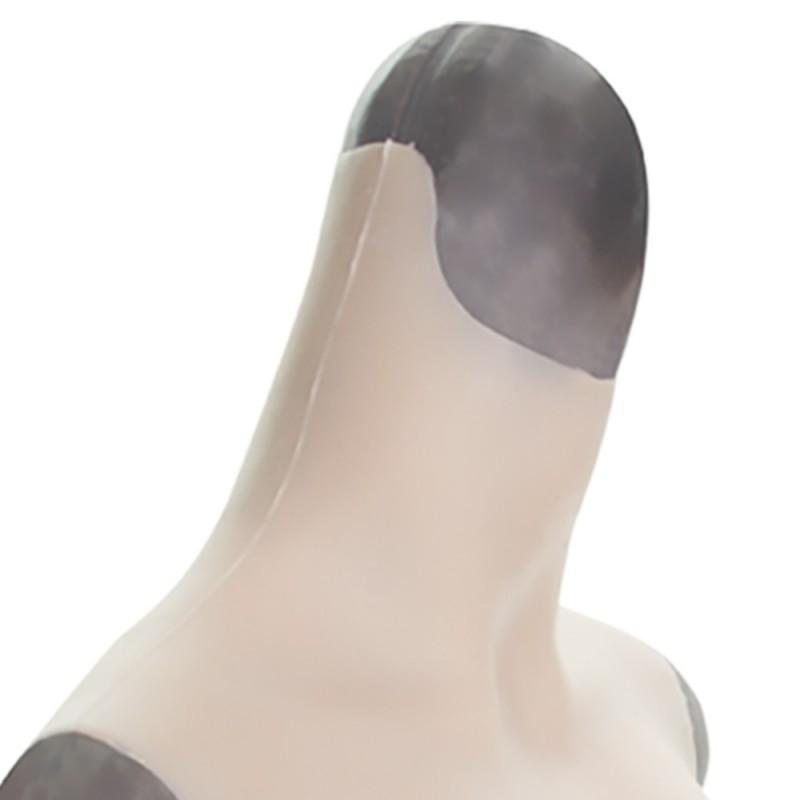 Buste faux seins, col haut, Bonnet B-C-D-E-G