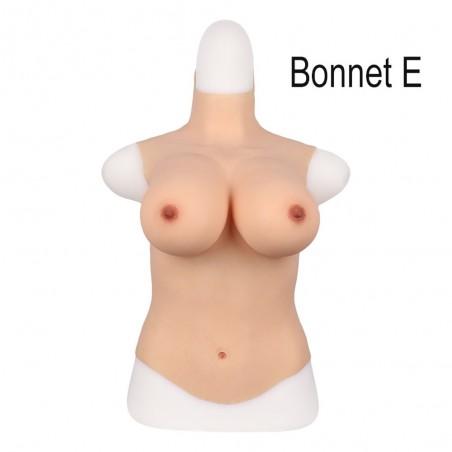 Buste long fausse poitrine, col haut, Bonnet C-D-E-G