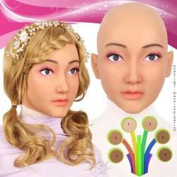 Masque en silicone, un visage féminin d?un réalisme surprenant