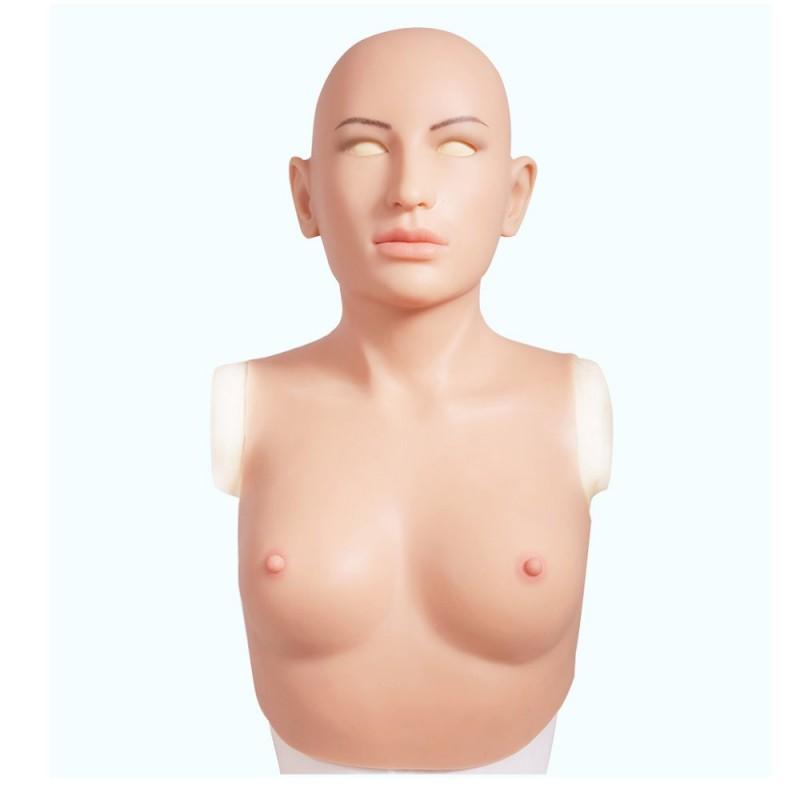 Buste faux seins masque intégré, Bonnet C