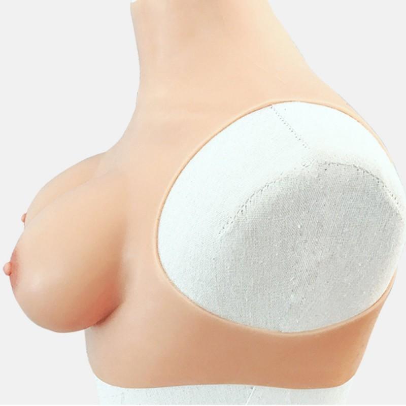 Buste faux seins, col haut, Bonnet C