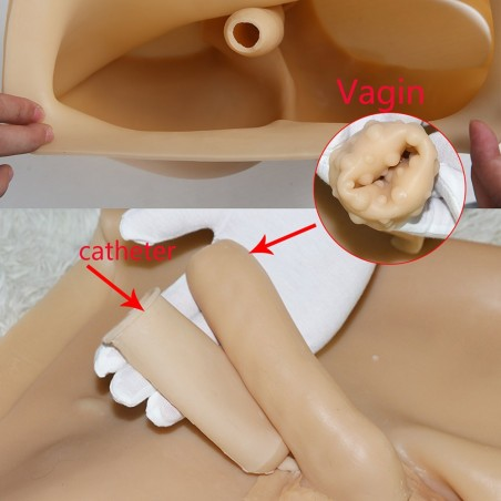 Combinaison faux seins et faux vagin en silicone