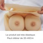 Buste faux seins en silicone, bonnet D
