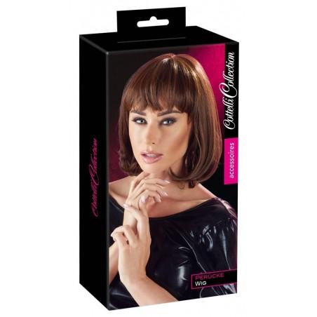 Perruque courte, une coiffure séduisante, fibres synthétiques