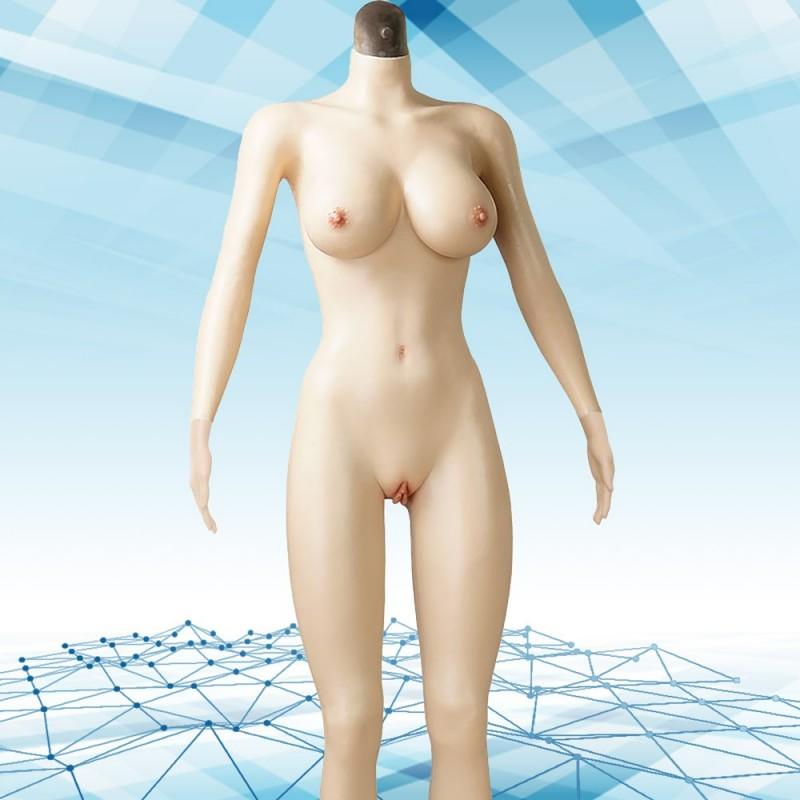 Combinaison intégrale silicone faux seins