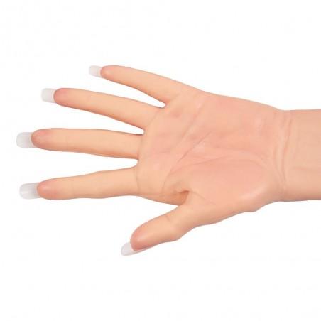 Gants féminins réalistes en silicone