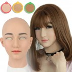Masque réaliste en silicone, tête pleine