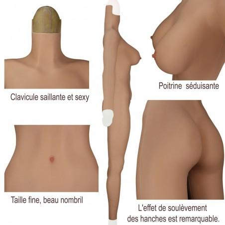 Combinaison intégrale faux seins, nouveau desing