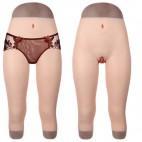 Legging réaliste faux vagin, en silicone