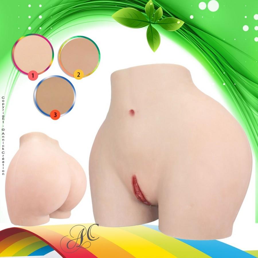 Panty faux vagin artificiel en silicone, pour rehausser les fesses