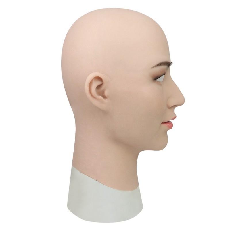Masque féminin  tendance en silicone, tête pleine