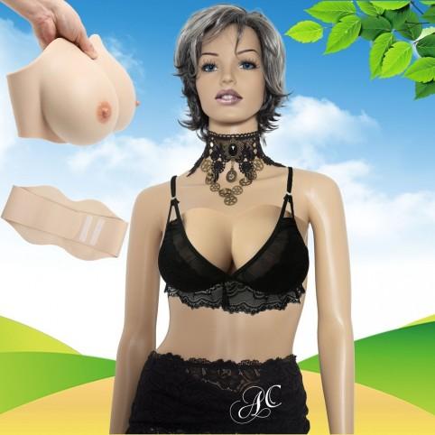 Buste faux seins silicone bandeau